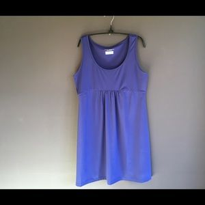 Columbia sleeveless purple knit dress sz Lg